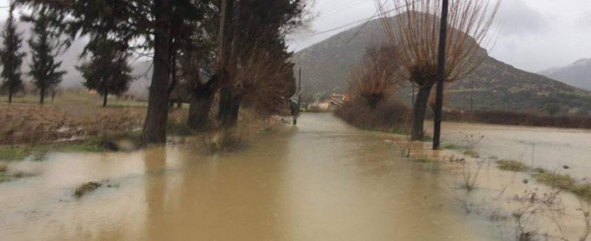 Κλειστοί δρόμοι στο Δήμο Τρίπολης λόγω έντονων βροχοπτώσεων