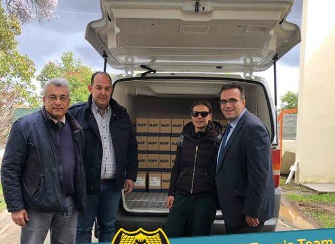 Δωρεά παιδικών τροφών από την ΑΕΚ Τρίπολης στον βρεφονηπιακό σταθμό Μεγαλόπολης