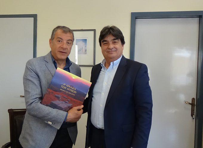 Συνάντηση Β.Γιαννακούρα με Σταύρο Θεοδωράκη