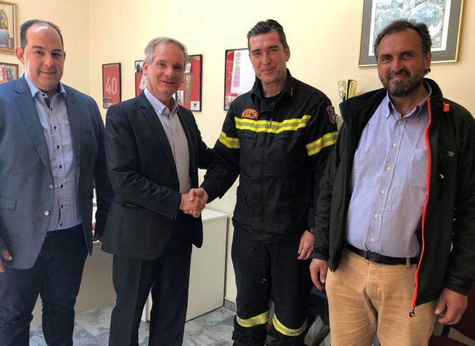Επισκέψεις Κώστα Μιχόπουλου σε Αστυνομία και Πυροσβεστική Μεγαλόπολης