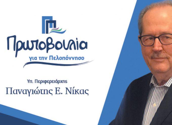 Οι σταυροί των υποψηφίων της παράταξης «Πρωτοβουλία για την Πελοπόννησο» του Παναγιώτη Νίκα στην Αρκαδία