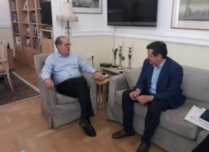 Συνάντηση με τον περιφερειάρχη Π. Νίκα είχε ο δήμαρχος Βόρειας Κυνουρίας Γ. Καμπύλης