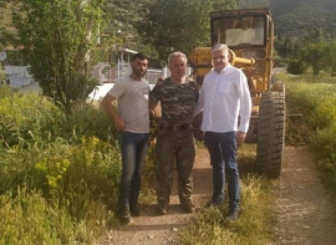 Εργασίες συντήρησης της αγροτικής οδοποιίας στη Δημοτική Ενότητα Λεβιδίου