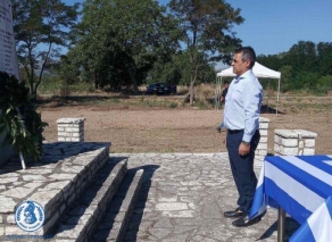 Ο Δήμαρχος Τρίπολης στην εκδήλωση τιμής και μνήμης των εκτελεσθέντων Ελλήνων Αγωνιστών στα Αλώνια της Αλέας