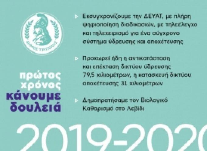 Δήμος Τρίπολης: Πρώτος Χρόνος – Κάνουμε Δουλειά | Τα έργα της ΔΕΥΑΤ