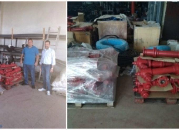 Δήμος Τρίπολης | Προμήθεια πυροσβεστικών κρουνών από την Πολιτική Προστασία