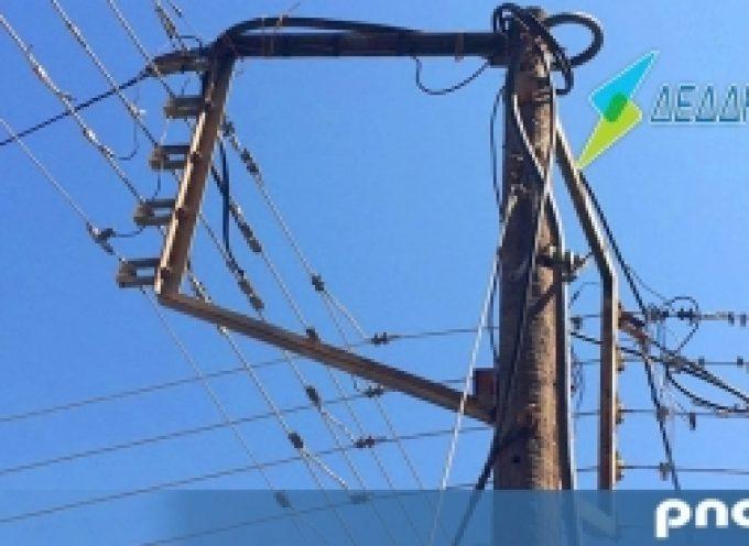 Διακοπή ηλεκτροδότησης σε περιοχές του Δήμου Τρίπολης
