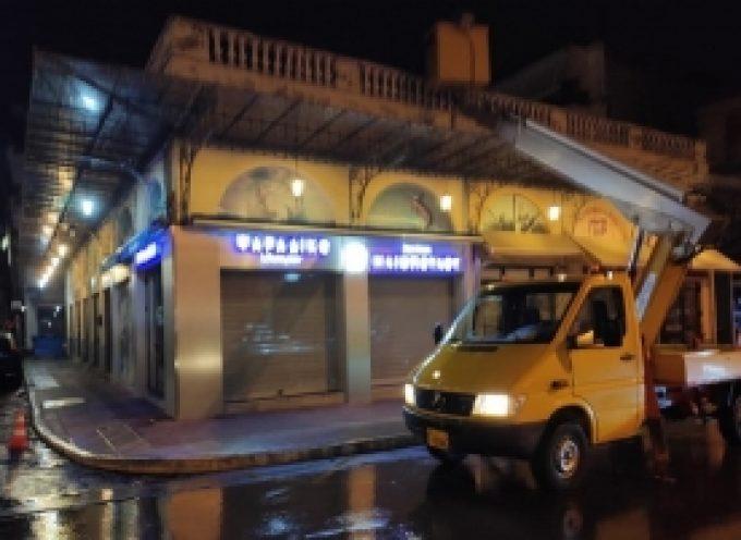 Αποκατάσταση των προβλημάτων στις υδρορροές των κτιρίων της αγοράς πλατείας Βαλτετσίου