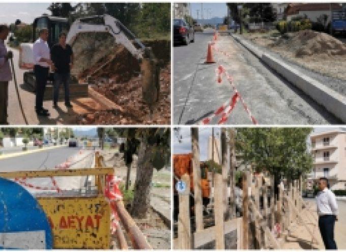 Περιοδεία σε μία σειρά από έργα τα οποία εξελίσσονται στην πόλη πραγματοποίησε ο Δήμαρχος Τρίπολης