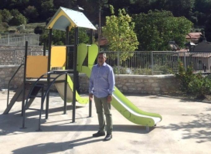Την Κανδύλα επισκέφθηκε  ο Δήμαρχος Τρίπολης και ενημερώθηκε για την κατασκευή της νέας παιδικής χαράς