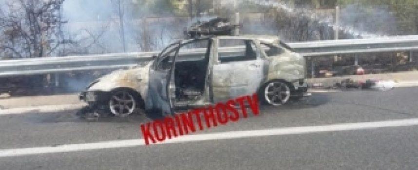Φωτιά εν κινήσει ξέσπασε σε Ι.Χ. αυτοκίνητο στην εθνική οδό Κορίνθου – Τρίπολης
