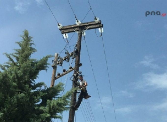 Διακοπή ηλεκτροδότησης στο Λεωνίδιο