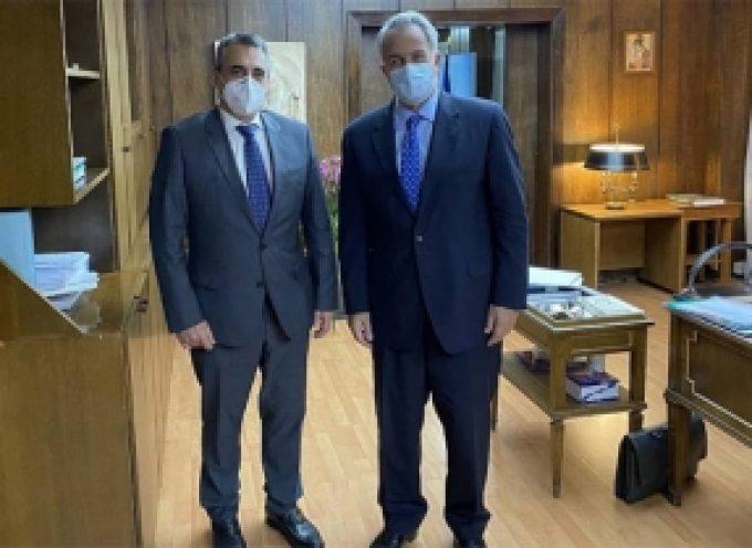 Με τον υπουργό Εσωτερικών Μάκη Βορίδη συναντήθηκε ο δήμαρχος Τρίπολης Κώστας Τζιούμης.