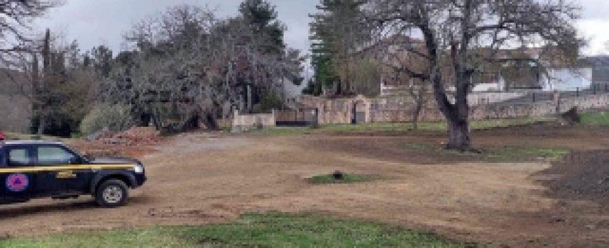 Διαμόρφωση πλατείας στον περιβάλλοντα χώρο της Ιεράς Μονής Καλτεζών