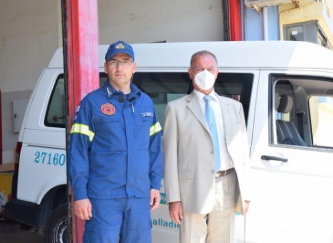 Υγειονομικό υλικό στην Πυροσβεστική Υπηρεσία προσέφερε το ΚΑΑ Παλλάδιον