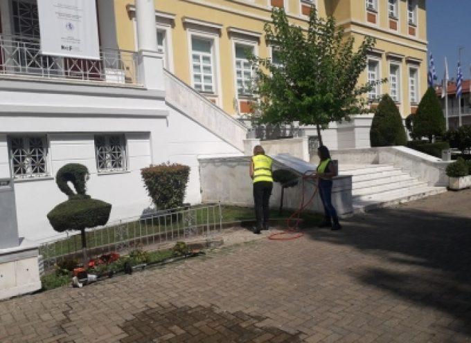 Εργασίες καθαριότητας στο Πνευματικό Κέντρο Τρίπολης (vid)